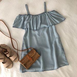 SANCTUARY Chambray Sun Dress